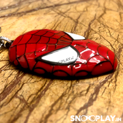Buy Marvel Spiderman Mask Glossy Metal Keychain keyring at low prices India online @ Snooplay.in