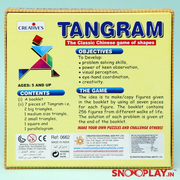 Buy Tangram Creative's (7 pieces) Art Craft DIY Learning Educational Games Toys for kids children boys girls Online India