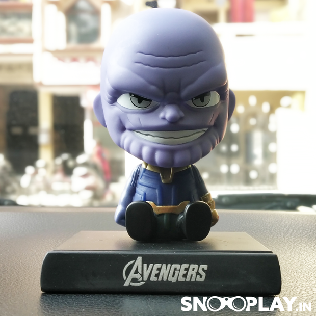 Thanos Bobble Head Action Figure Car Decoration Mobile Stand