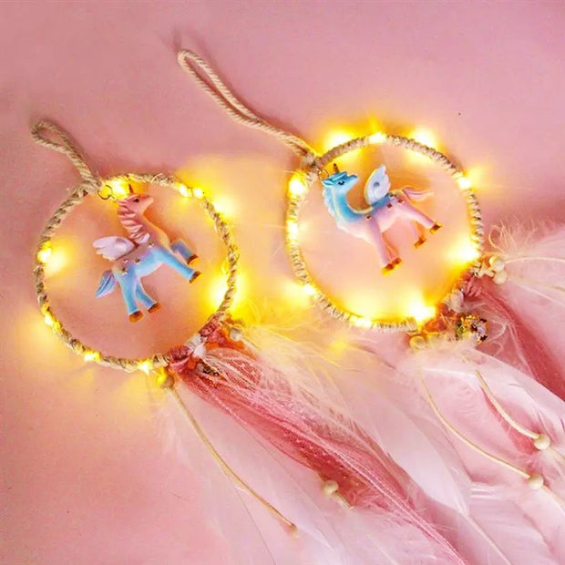 Unicorn Dream Catcher (with fairy lights)