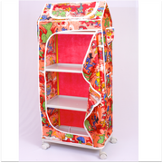 Kids Wardrobe with 4 Shelves (Plastic Structure)