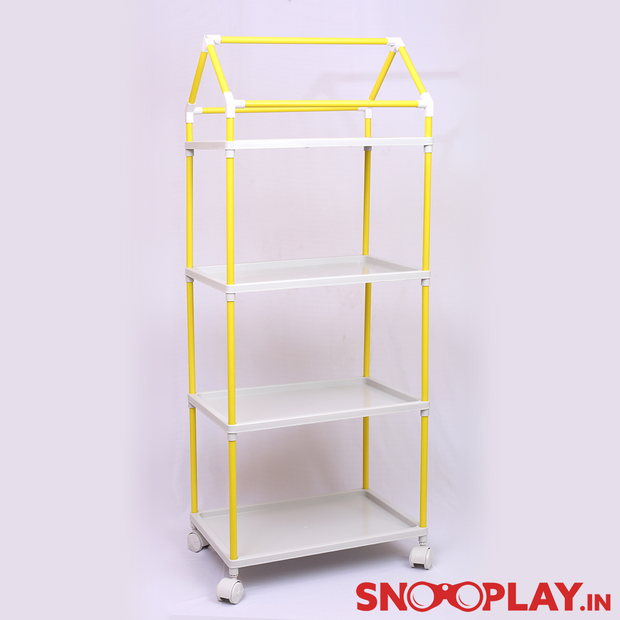 Wardrobe (4 Shelves) Plastic Structure