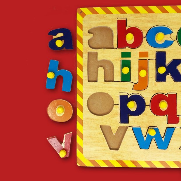 Wooden Small Letters Blocks - Buy Wooden English Alphabet Blocks for Kids India Low Price