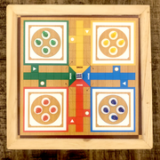 Wooden Ludo And Snakes & Ladders Game Set