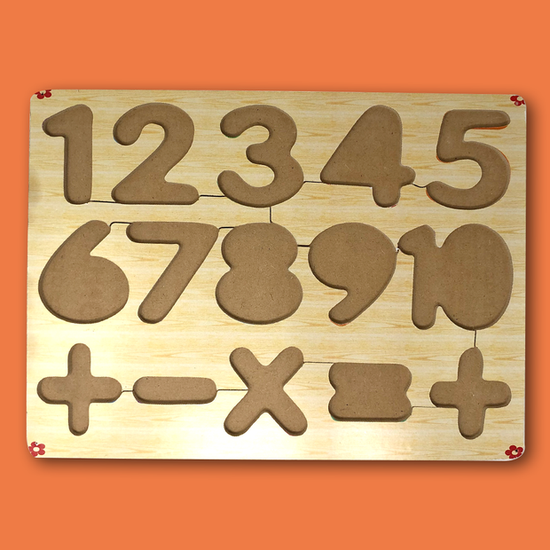 Wooden Number & Maths Symbols Blocks - Buy Wooden 0-9 Numbers & Mathematics Symbols Blocks for Kids India Low Price