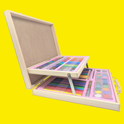 Wooden Painting Set (106 Pieces for Art & Craft Lover)