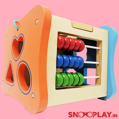 wooden intelligence activity box cheap counting game