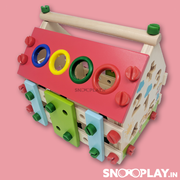 Buy wooden educational construction house with xylophone - Snooplay.in for kids