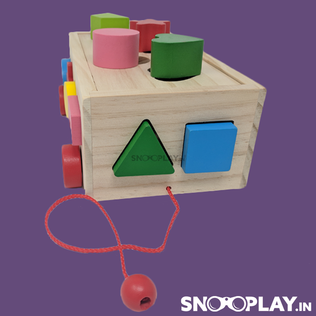 Buy wooden car toy with shapes and colors learning puzzle- Snooplay.in for kids