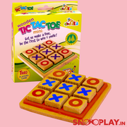 10 Packs of Wooden Tic Tac Toe Game