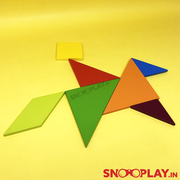 Wooden Tangram Kit - Buy Safe Wooden Tangram Blocks puzzle Game for kids  Online India at Low Prices