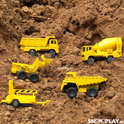 Volvo Construction Vehicles Toy Set (Playset with 5 Diecast Toy Trucks)