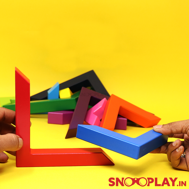 Wooden Angle Bracket Blocks Stacking Construction Toy Online India best prices