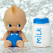 Squeezy Squeaky Toy - Baby with Bottle