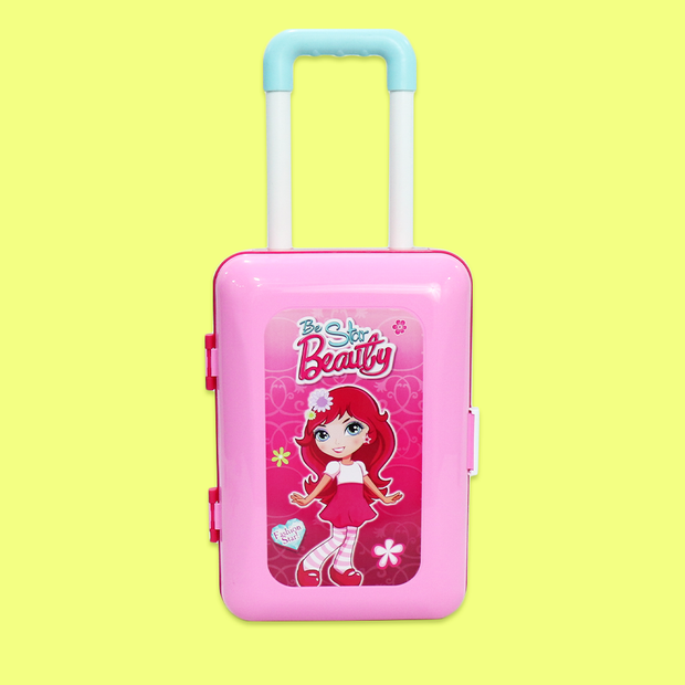 2 in 1 fashion you Playset Pretend Play Suitcase