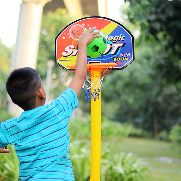 Basketball Game Set (with Adjustable Height)