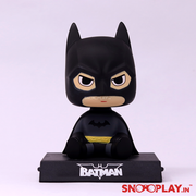 The batman bobble head action figure, a great gift for a superhero fan and ideal for decor.