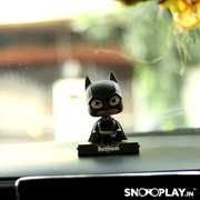 Batman Bobblehead action figure placed on the dashboard. A perfect decor for car, desk or even office.