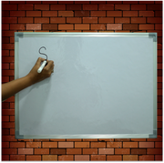 White/Black Board (1.5ft x 2ft) (with built in wall hanging clips)
