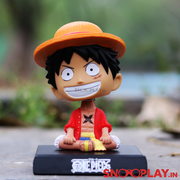 Buy One Piece Anime Character Bobblehead for car decoration with phone stand Online India Best Price