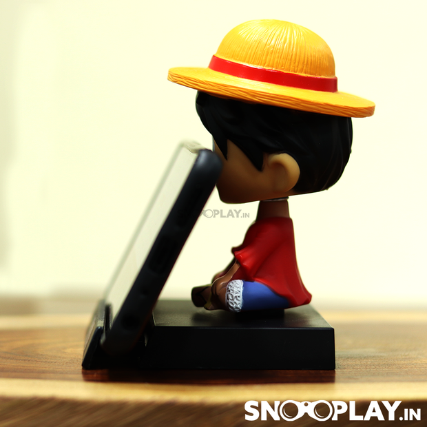 Monkey D. Luffy - One Piece Action Figure Bobbleheads Car Decoration with Phone Stand