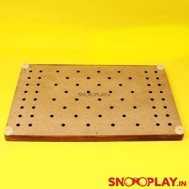 Braille Checkers Wooden Board Game (Hand Painted)