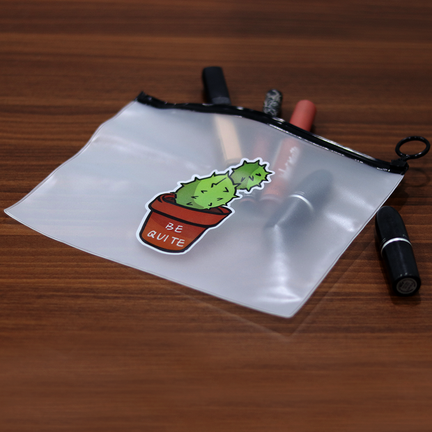Cactus Pencil & Cosmetic Pouch