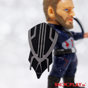 Captain America Moving Action Figure with Stand Keychain