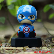 Baby Captain America Solar Powered Bobblehead