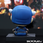 Captain America bobblehead action figure back view.