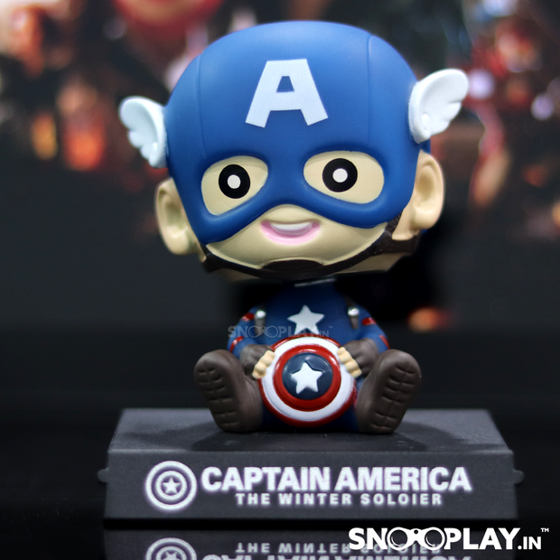 Superhero toy, Captain America, wearing a winter soldier costume and mask. A must for all the Avengers and Marvel fans.