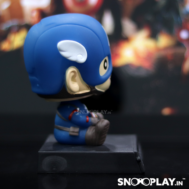 Captain America Bobblehead with a soldier costume and mask.