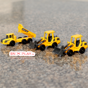 Construction Vehicles Toy Set For Kids (Diecast Toy Trucks with Sign Boards and Cones)