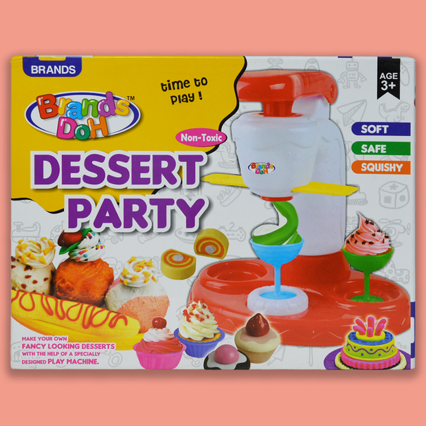Dessert Party (Play Dough Clay Game) Playset For Kids