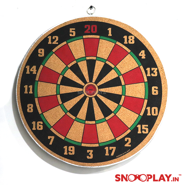 Buy wooden Dart game 18 inches with steel tip dart online- Snooplay.in