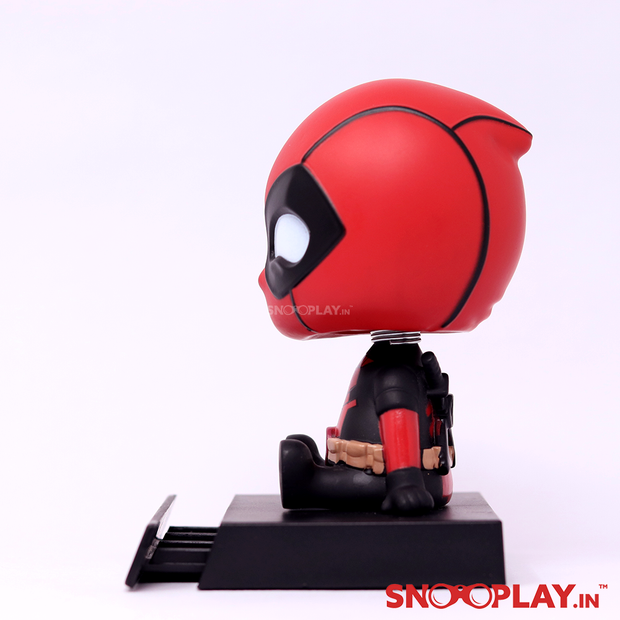 Side view of the Deadpool action figure of height approx 5 inches. Best fit for car accessories.