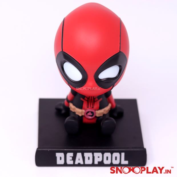 A great collectible for all the Marvel fans, Deadpool bobblehead action figure, to add to your showcase cupboard or the centre table.