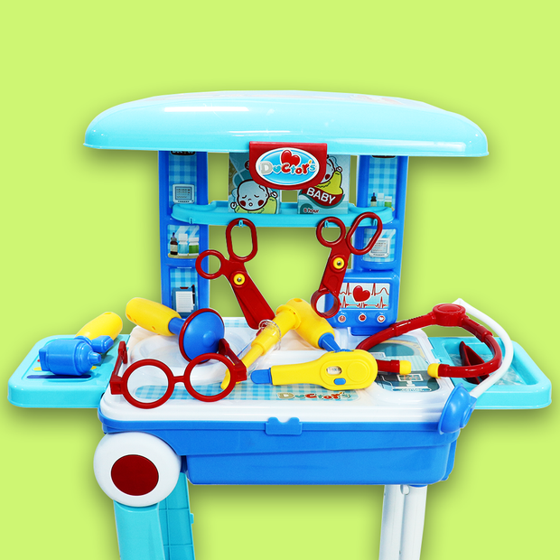 Little Doctor Set Suitcase Trolly For Kids (Big)
