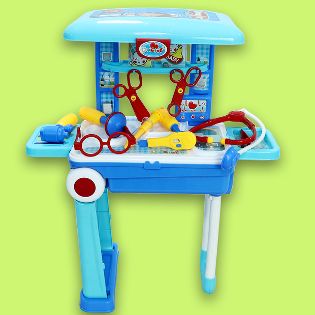 2 in 1 Little Doctor Playset Pretend Play Suitcase