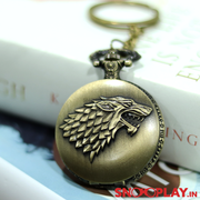 G.O.T Game Of Thrones Antique Analog Pocket Watch Keychain