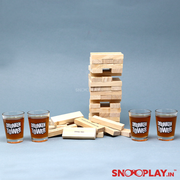 Drunken Tower with shot glasses best adult drinking jenga online india best price
