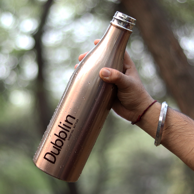 Buy Dubblin - Vintage Stainless Steel 1000ml (1 Ltr) Water Bottle online india best price\
