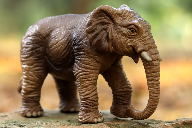 Asian Elephant Animal Figure - National Geographic Original