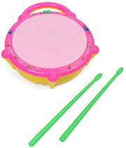 Flash Drum With Sticks Musical Toy For Kids