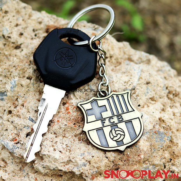 Buy F C Barcelona Football Club Logo Metal Keychain Football Lovers Online India Best Price