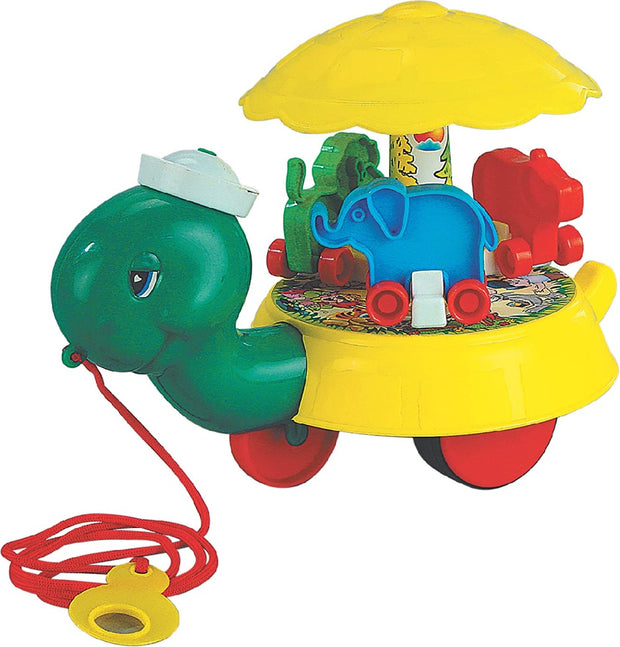 Freddy The Turtle (Pull Along Toy With Spinning Top)