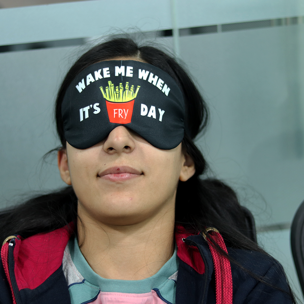 Fry day Eye Mask
