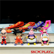 Dragon Ball Z Action Figure Keychains have 4 variants- Krillin, Goku, Majin Buu & Master Roshi.