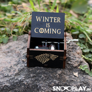 "The hand cranked musical box with the track ""Winter is Coming"", makes a great gift for all the music lovers."