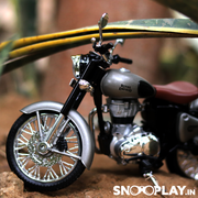 Royal Enfield Classic 350 Diecast Bike Model (Gun Metal) 1:12 Scale | COD not available on this product